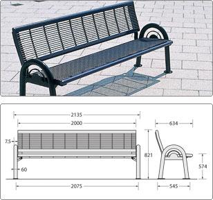 sineu graff bercy seat street furniture. Black Bedroom Furniture Sets. Home Design Ideas