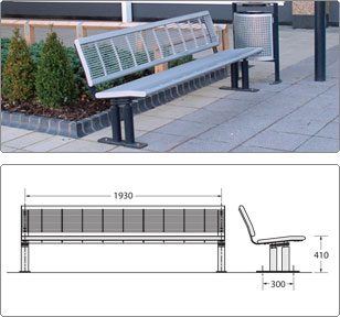 sineu graff orsay seat street furniture. Black Bedroom Furniture Sets. Home Design Ideas
